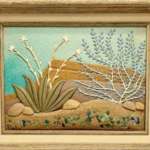 Susan Popko Desert Dawn sand art